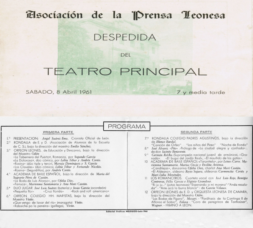 Cierre del Teatro Principal 1961 copia